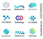 set of tech vector design... | Shutterstock .eps vector #1337290331
