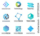 set of tech vector design... | Shutterstock .eps vector #1337290334