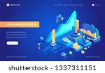 data analysis service isometric ... | Shutterstock .eps vector #1337311151