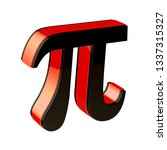 glossy pi symbol isolated on... | Shutterstock . vector #1337315327