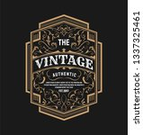 vintage label typography retro... | Shutterstock .eps vector #1337325461