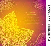 gold indian vintage ornament.... | Shutterstock .eps vector #133733285