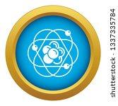 atom molecule icon blue vector...   Shutterstock .eps vector #1337335784
