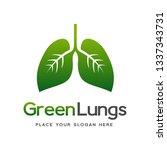 green lungs vector logo...   Shutterstock .eps vector #1337343731