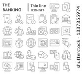 banking thin line icon set ... | Shutterstock .eps vector #1337355974