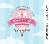 wedding invitation with balloon | Shutterstock . vector #133735694