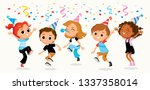 children party kids fooling... | Shutterstock .eps vector #1337358014