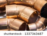 copper pipes of different... | Shutterstock . vector #1337363687