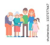 big family illustration | Shutterstock . vector #1337377667