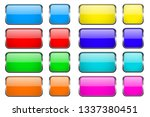 colored rectangle glass 3d... | Shutterstock . vector #1337380451