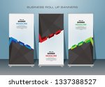 roll up banner design template  ... | Shutterstock .eps vector #1337388527