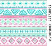 tribal ethnic seamless | Shutterstock .eps vector #133738931