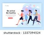 running sport people  be active ... | Shutterstock .eps vector #1337394524