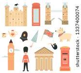 big set of london symbols ... | Shutterstock .eps vector #1337400074