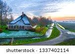 rural farm house road landscape....   Shutterstock . vector #1337402114
