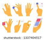 vector set of hands  in modern... | Shutterstock .eps vector #1337404517