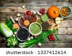 healthy food. healthy... | Shutterstock . vector #1337412614