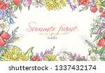 vector delicate invitation with ... | Shutterstock .eps vector #1337432174