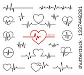 simple collection of cardiogram ... | Shutterstock .eps vector #1337448281