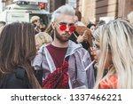 milan  italy   february 22 ... | Shutterstock . vector #1337466221