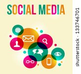 social media icons set in... | Shutterstock .eps vector #133746701