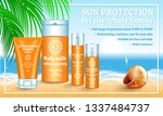 sunscreen concept banner....   Shutterstock .eps vector #1337484737