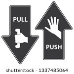 Push And Pull  Vector...