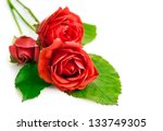 Red Roses With Green Leaves...