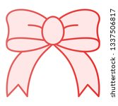 gift bow flat icon. silk bow... | Shutterstock .eps vector #1337506817