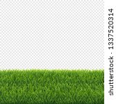 big set green grass borders... | Shutterstock . vector #1337520314