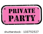 retro stamp for a private club  ... | Shutterstock . vector #133752527