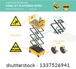isometric white isolated lift...   Shutterstock .eps vector #1337526941