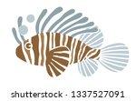 tropical lionfish on white... | Shutterstock .eps vector #1337527091