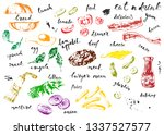hand drawn colorful sketch fast ... | Shutterstock .eps vector #1337527577