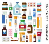 medicine pills and ointments... | Shutterstock .eps vector #1337527781