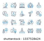 management line icons. set of... | Shutterstock .eps vector #1337528624