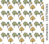 vector ecological pattern with... | Shutterstock .eps vector #1337536361