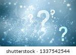 2d illustration question mark ... | Shutterstock . vector #1337542544