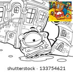 the aliens theme   coloring... | Shutterstock . vector #133754621