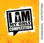 i am my only competition.... | Shutterstock .eps vector #1337547284