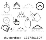 swipe up stories icon .  scroll ... | Shutterstock .eps vector #1337561807