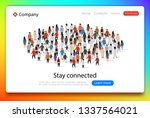 social network web page. group...   Shutterstock .eps vector #1337564021