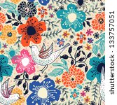 Vector Floral Pattern With...