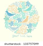 vector illustration of a floral ... | Shutterstock .eps vector #133757099