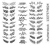 floral design elements set.... | Shutterstock .eps vector #1337574824