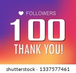 thanks for the first 100... | Shutterstock .eps vector #1337577461