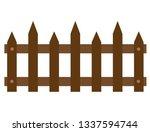 wooden fences icon on white...