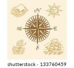 treasure map | Shutterstock .eps vector #133760459