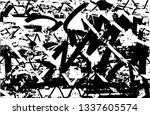 distressed background in black... | Shutterstock . vector #1337605574