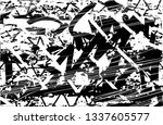 distressed background in black... | Shutterstock . vector #1337605577